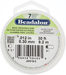 Beadalon 7 Strand Silver .3mm Beading Wire 30ft