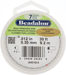 Beadalon 7 Strand Gold .3mm Beading Wire 30ft