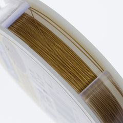 Beadalon 19 Strand Satin Gold .3mm Beading Wire 30ft