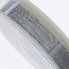 Beadalon 19 Strand Satin Silver .3mm Beading Wire 30ft