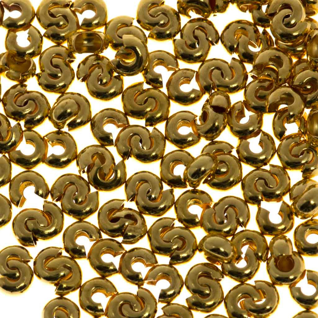 Crimp Bead Cover 4mm Gold Plated 1pc