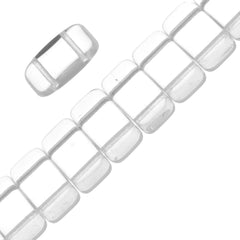 Glass Carrier Bead 9x17mm Two Hole Crystal 15pcs (00030)