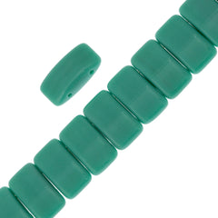 Glass Carrier Bead 9x17mm Two Hole Turquoise 15pcs (63130)