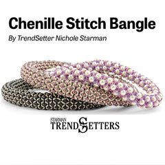 Pattern Chenille Stitch Bangle