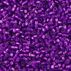 Miyuki Delica Seed Bead 11/0 Dyed Silver Lined Violet 7g Tube DB1345