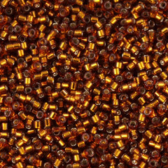 Miyuki Delica Seed Bead 10/0 Silver Lined Amber 5g DBM144
