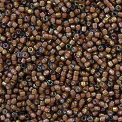25g Miyuki Delica Seed Bead 11/0 Cocoa Inside Dyed Color White DB1790