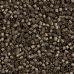 25g Miyuki Delica Seed Bead 11/0 Duracoat Dyed Semi-Matte Silver Lined Bramble DB2184
