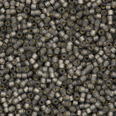 25g Miyuki Delica Seed Bead 11/0 Duracoat Dyed Semi-Matte Silver Lined Aracia DB2185