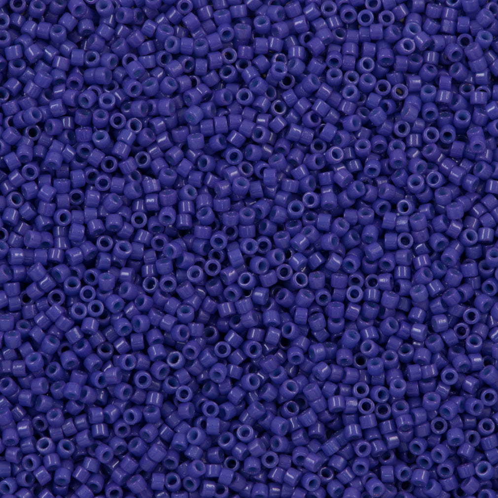 25g Miyuki Delica Seed Bead 11/0 Duracoat Opaque Violet Blue DB2359