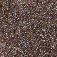 25g Miyuki Delica seed bead 11/0 Fancy Inside Dyed Rose Taupe DB2395