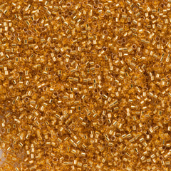 25g Miyuki Delica Seed Bead 11/0 24kt Gold Lined Crystal DB2521