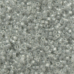 25g Miyuki Delica Seed Bead 11/0 Inside Dyed Color Crystal Silver DB271