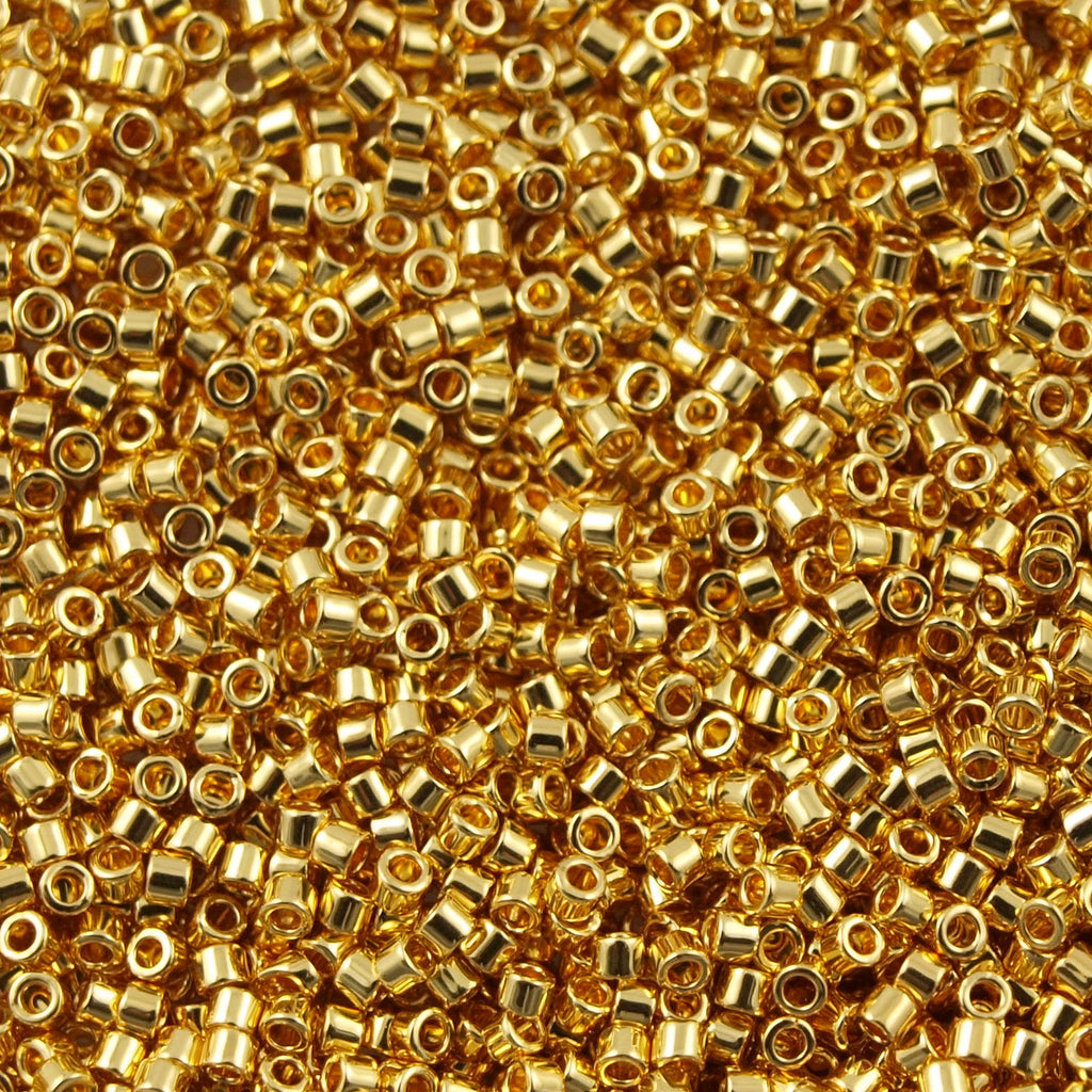 Miyuki Delica Seed Bead 15/0 24kt Gold Plated 2-inch Tube DBS31