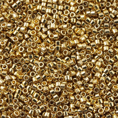 Miyuki Delica Seed Bead 15/0 24kt Light Gold Plated 2-inch Tube DBS34