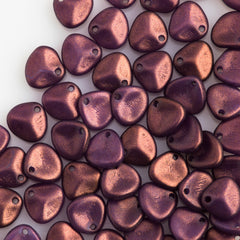 50 Czech 8x7mm Petal Halo Ethereal Regal Beads (29261P)