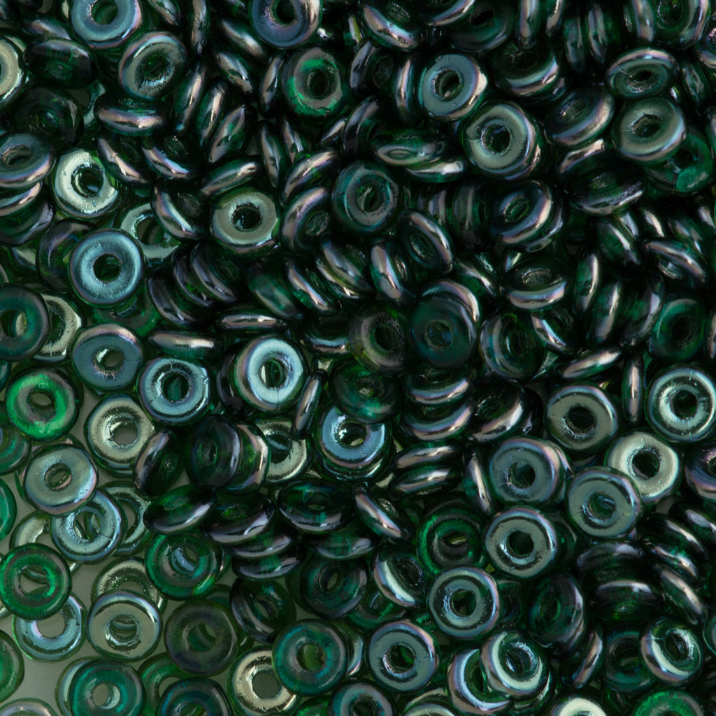 Czech O Beads Emerald Celsian 15g (50730Z)