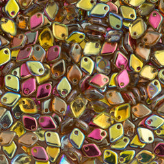 Czech Dragon Scale Beads Crystal Brown Rainbow 15g (98532)