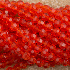 100 Faceted Round 4mm Hyacinth Beads