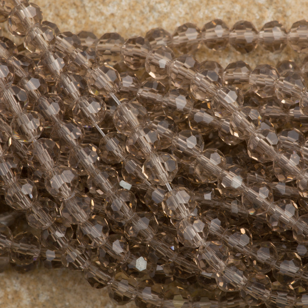100 Faceted Round 4mm Dusty Amethyst Beads