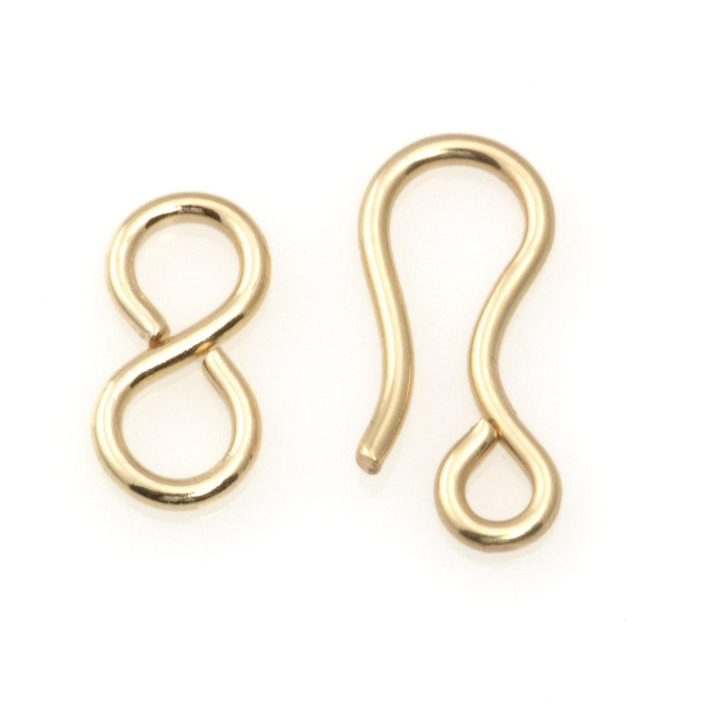 12mm 14kt Gold-Filled Hook and Eye Clasp
