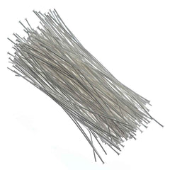 Headpin 2 inch Silver Plated 24ga 144pcs
