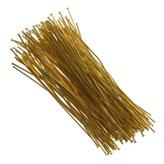 Headpin 2.5 inch Gold Plated 21ga 144pcs