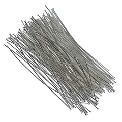 Headpin 2.5 inch Silver Plated 21ga 144pcs