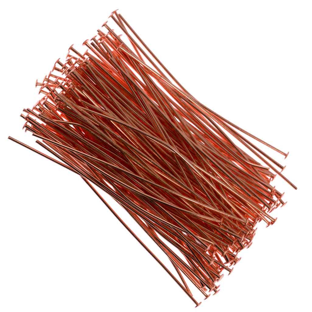 Headpin 2 inch Copper Plated 21ga 144pcs