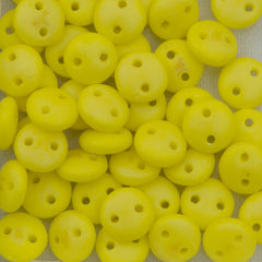 50 CzechMates 6mm Two Hole Lentil Matte Custard Luster Iris Beads (83120MLR)