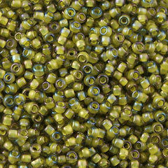 Toho Round Seed Bead 8/0 Inside Color Lined Yellow Green 30g (246)