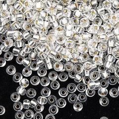 Miyuki Round Seed Bead 6/0 Silver Lined Crystal 30g (131S)