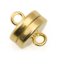 9x8mm Gold Plated Magnetic Clasp