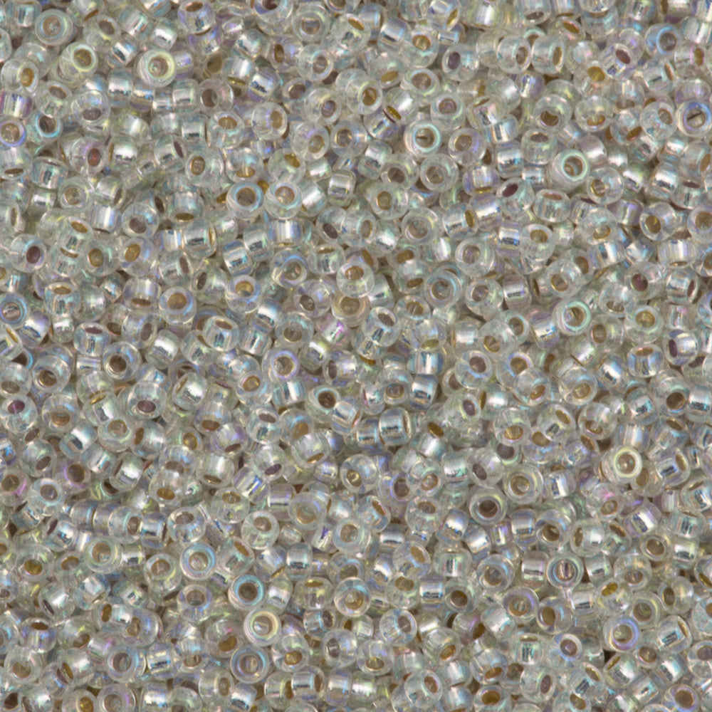 Miyuki Round Seed Bead 15/0 Silver Lined Crystal AB 2-inch Tube (1001)