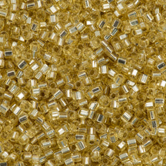Miyuki 1.8mm Cube Seed Bead Silver Lined Gold 15g SB1-3