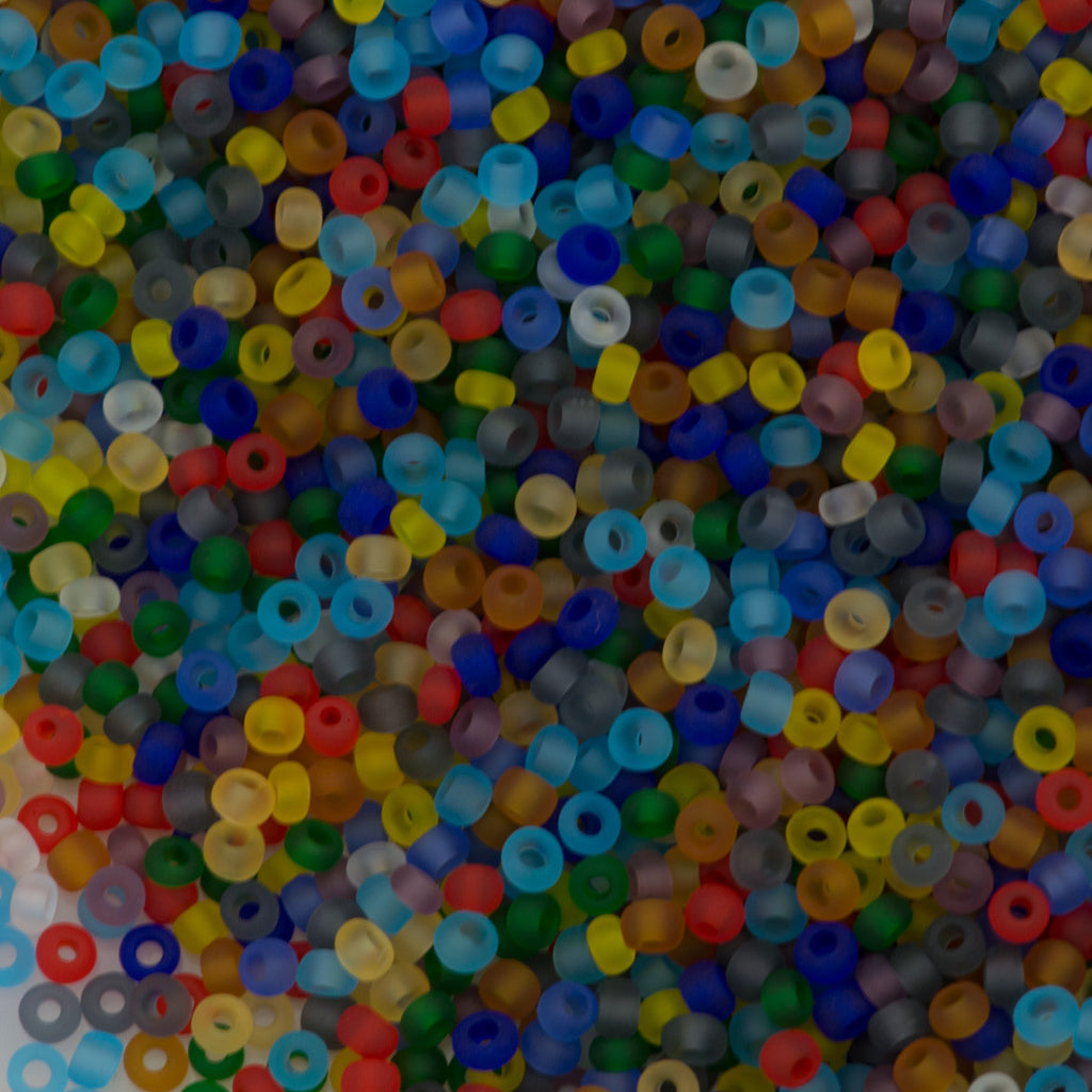 Czech Seed Bead 10/0 Transparent Matte Confetti Mix 15g (29602)