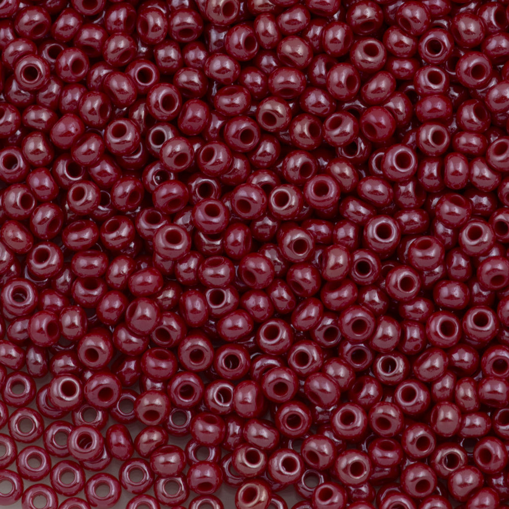 Czech Seed Bead 10/0 Opaque Pearl Red 15g (98190)