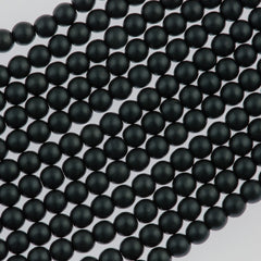 100 Czech 3mm Round Charcoal Glass Pearl Beads