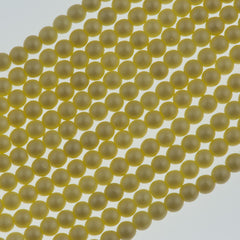 100 Czech 3mm Round Matte Cream Glass Pearl Beads