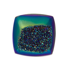 Cassiopeia Seas Aura Carved Window Druzy Cushion Square Cabochon 14x5mm