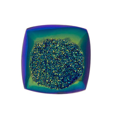 Cassiopeia Seas Aura Carved Window Druzy Cushion Square Cabochon 14x4mm