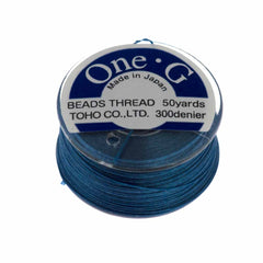 Toho One-G Nylon Blue Thread 50 yard bobbin