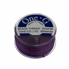 Toho One-G Nylon Purple Thread 50 yard bobbin