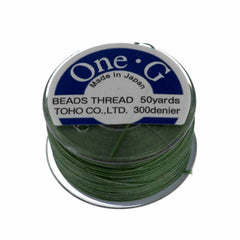 Toho One-G Nylon Green Thread 50 yard bobbin