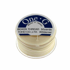 Toho One-G Nylon Cream Thread 50 yard bobbin