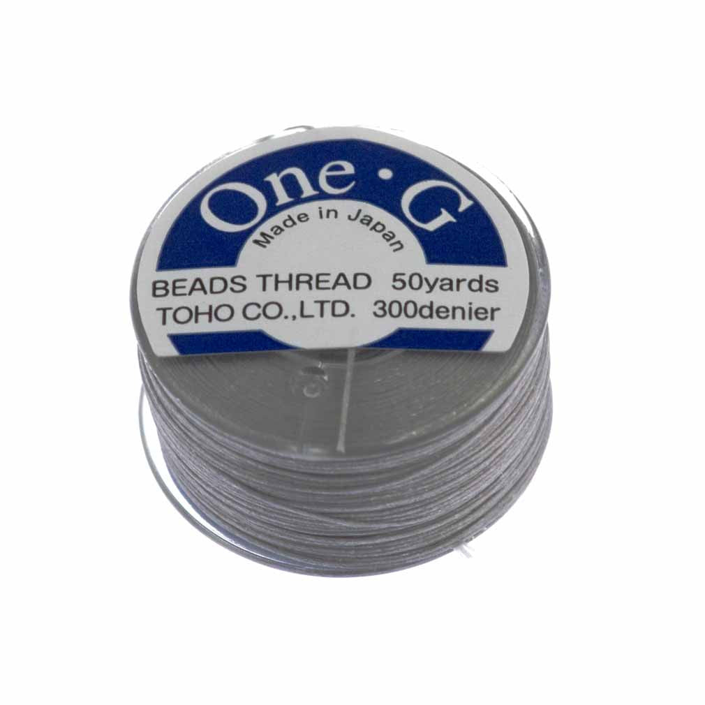 Toho One-G Nylon Light Grey Thread 50 yard bobbin