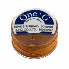 Toho One-G Nylon Orange Thread 50 yard bobbin