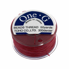 Toho One-G Nylon Red Thread 50 yard bobbin
