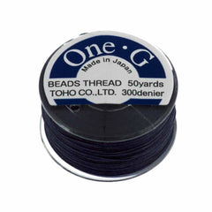 Toho One-G Nylon Navy Thread 50 yard bobbin