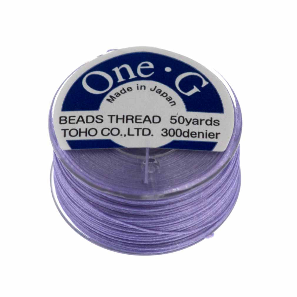 Toho One-G Nylon Light Lavender Thread 50 yard bobbin
